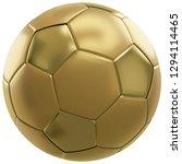 soccer ball golden 3d... | Shutterstock . vector #1294114465