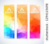 vector design template set of... | Shutterstock .eps vector #1294115698