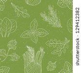 herb seamless pattern | Shutterstock .eps vector #129412382