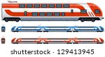 passenger train  double decker  ... | Shutterstock .eps vector #129413945