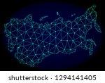 polygonal vector mesh map of... | Shutterstock .eps vector #1294141405