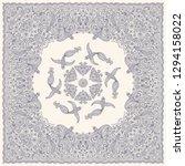 vector abstract bandana peacock ... | Shutterstock .eps vector #1294158022
