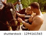 equine therapy  recreation... | Shutterstock . vector #1294161565