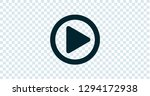 play button illustration... | Shutterstock .eps vector #1294172938
