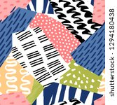collage seamless pattern.... | Shutterstock .eps vector #1294180438