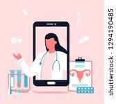 medicine concept with... | Shutterstock .eps vector #1294190485