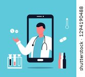 smartphone with male doctor on... | Shutterstock .eps vector #1294190488