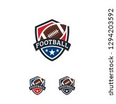 american football logo designs... | Shutterstock .eps vector #1294203592