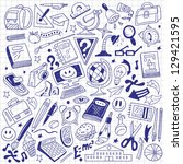 school education   doodles | Shutterstock .eps vector #129421595