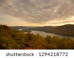an autumn sunset over the... | Shutterstock . vector #1294218772