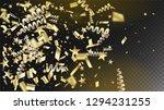 modern realistic gold tinsel...   Shutterstock .eps vector #1294231255