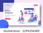 landing page online shopping ... | Shutterstock .eps vector #1294236385
