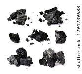 hardwood charcoal isolated on... | Shutterstock . vector #1294239688
