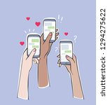 social network addiction....   Shutterstock .eps vector #1294275622