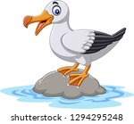 Cartoon Cute Bird Albatross...