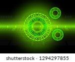 colorful flouro green geometric ...