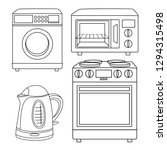 home appliances vector drawings ... | Shutterstock .eps vector #1294315498