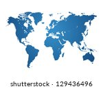 world map isolated   vector... | Shutterstock .eps vector #129436496