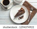 Slice Of Tasty Chocolate Cake...
