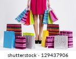 Woman With Full Shopping Bags