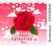 vector illustration of paper... | Shutterstock .eps vector #1294385848