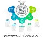 5 steps timeline infographic in ... | Shutterstock .eps vector #1294390228