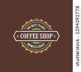 coffee sticker concept line...