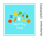 square template for healthy... | Shutterstock .eps vector #1294393912