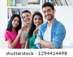 spanish guy with group of... | Shutterstock . vector #1294414498
