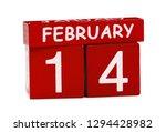 14 february on white background | Shutterstock . vector #1294428982