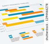 gantt progress line business... | Shutterstock . vector #1294466278