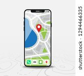 map  map point  smartphone with ... | Shutterstock .eps vector #1294466335