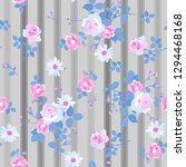 seamless floral pattern with... | Shutterstock .eps vector #1294468168