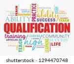 qualification word cloud ... | Shutterstock .eps vector #1294470748