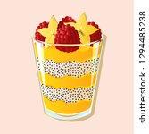 chia mango fruit pudding vector ...   Shutterstock .eps vector #1294485238
