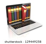 digital library   books inside... | Shutterstock . vector #129449258