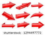 red straight shiny arrows.... | Shutterstock .eps vector #1294497772