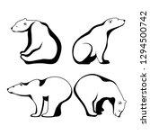 polar bear  symbol of the... | Shutterstock . vector #1294500742
