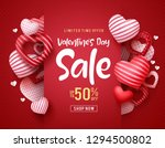 valentines day sale vector... | Shutterstock .eps vector #1294500802