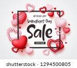 valentines day sale vector... | Shutterstock .eps vector #1294500805