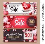 valentines day sale vector...   Shutterstock .eps vector #1294500808