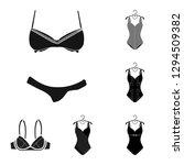 vector illustration of bikini... | Shutterstock .eps vector #1294509382