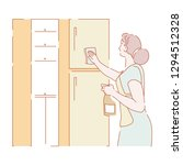 cleaning and housework... | Shutterstock .eps vector #1294512328