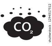 co2 icon on white background....