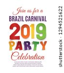 brazil carnival 2019 party... | Shutterstock .eps vector #1294521622