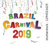 brazil carnival 2019 background ...   Shutterstock .eps vector #1294521625
