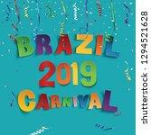 brazil carnival 2019 background ... | Shutterstock .eps vector #1294521628