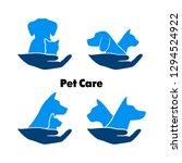logo care of animals  symbol of ... | Shutterstock . vector #1294524922