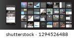 set of modern trendy magazine... | Shutterstock .eps vector #1294526488