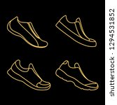 icon sports shoes set. | Shutterstock . vector #1294531852